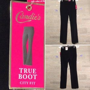 Candie's -Sz 1 - boot pants - slimming technology